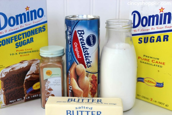 Easy Cinnamon Sticks- A quick and easy breakfast or dessert idea. Serve with a side of icing for extra yum!
