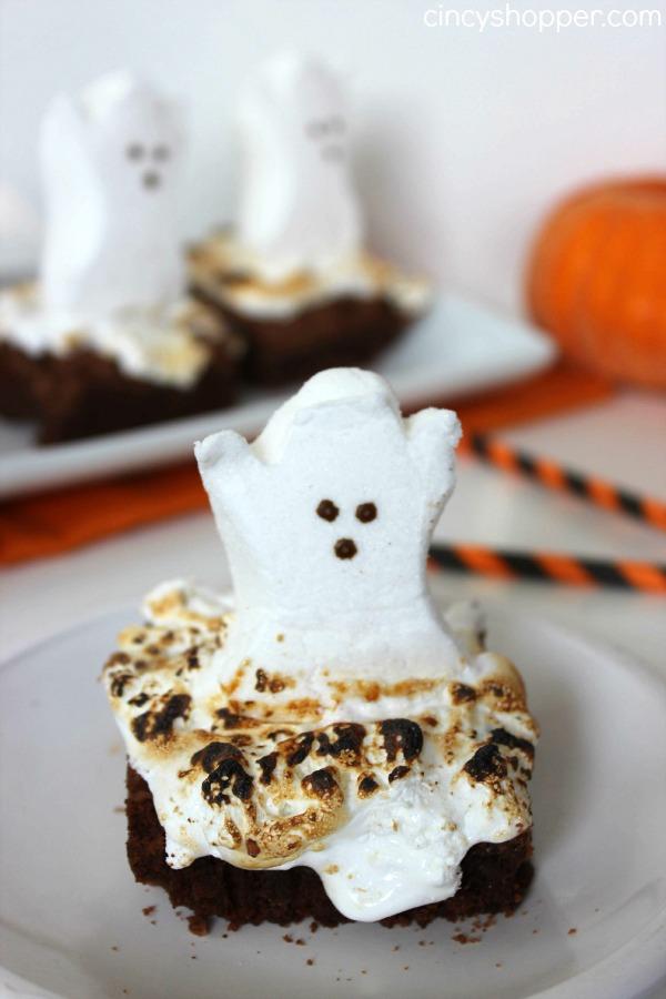 PEEPS Ghost Brownies Recipe 1