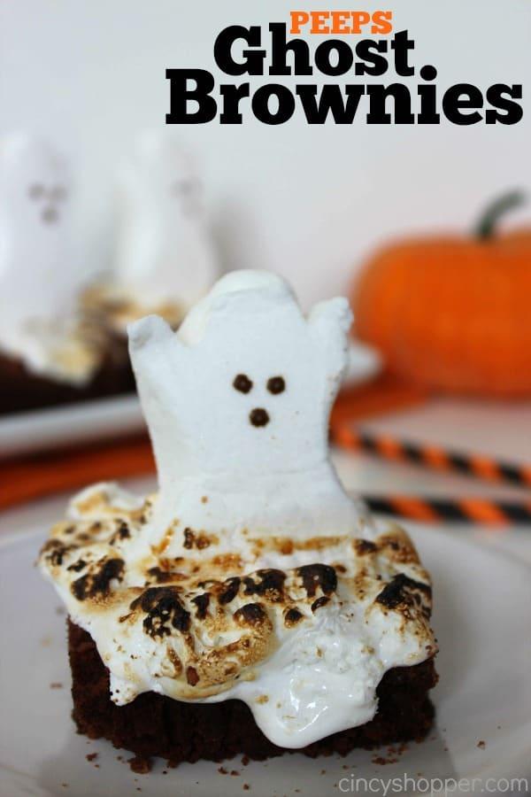 PEEPS Ghost Brownies Recipe