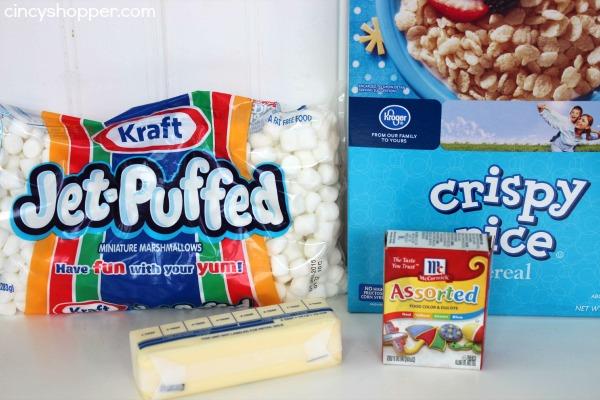 Candy Corn Rice Krispies Recipe 1