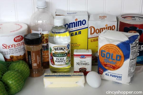 Ingredients for making Dutch Apple Pie
