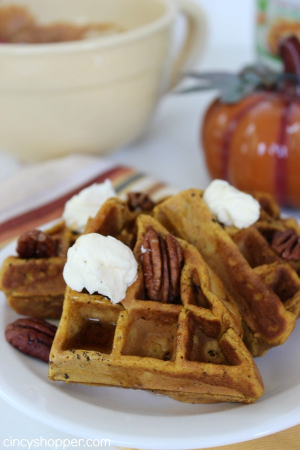 Pumpkin Waffles - makes for a great fall breakfast!