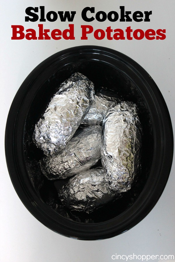 Slow Cooker Baked Potatoes Recipe
