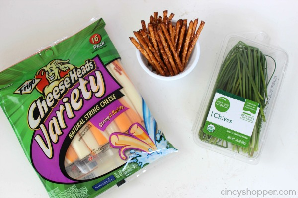 Witch's Broom Snacks fun and healthy Halloween snack or treat. Great for parties or lunchboxes.