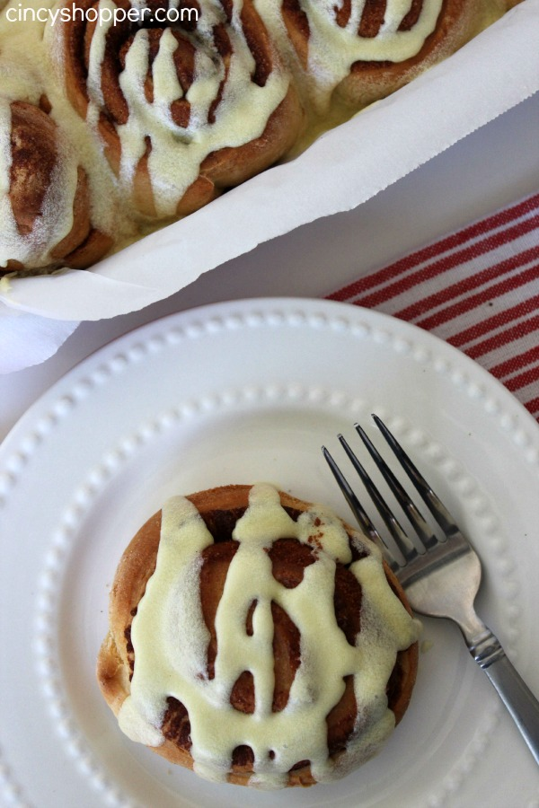 Eggnog Cinnamon Rolls Recipe. Perfect for holiday breakfasts, brunches or dessert. Homemade holiday yumminess!