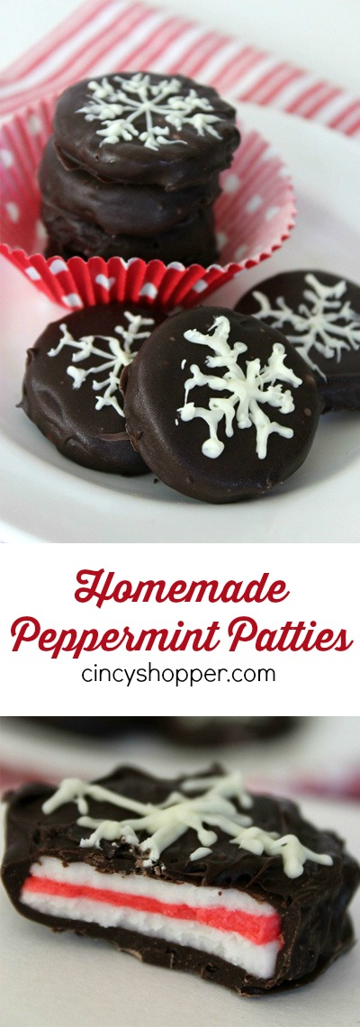 Homemade Peppermint Patties Recipe- These peppermint patties are great to enjoy yourself or for gifting this holiday season.  Super quick and so simple to make right at home.
