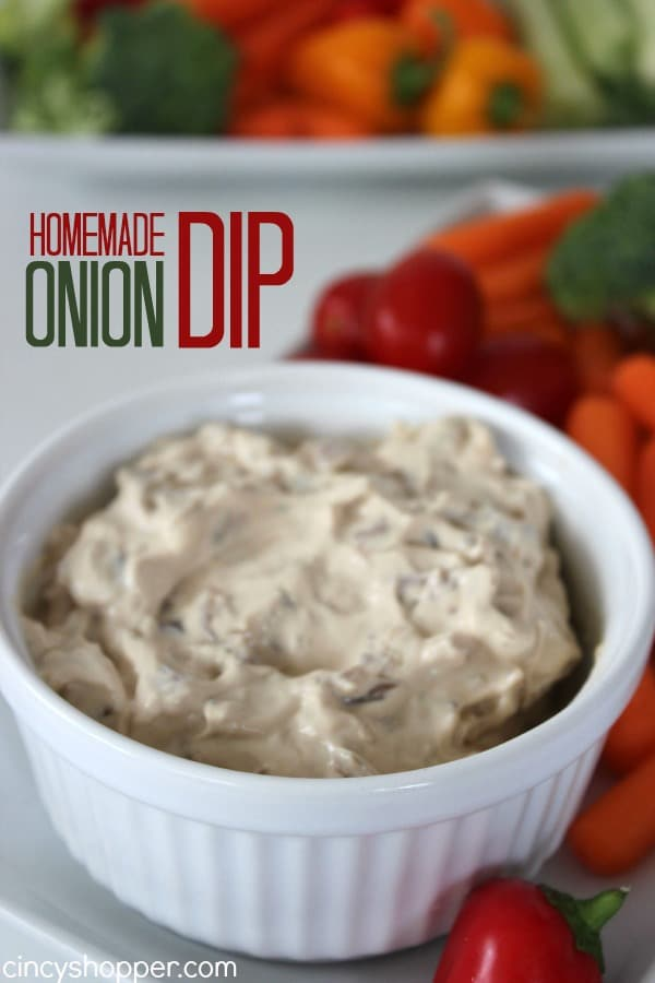 Homemade Onion Dip- If you are looking for a great dip this Homemade Onion Dip Recipe will be perfect. Loaded with great onion onion flavors and great for serving up with veggies or chips.