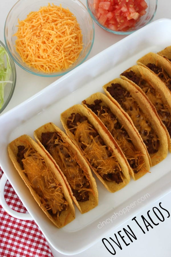 Oven Tacos- Quick and Easy Taco Night Idea. Your family will love them!
