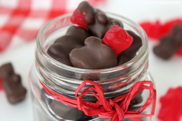 Chocolate Covered Cinnamon Bears- just like those you find at the high end candy stores at a fraction of the cost. Perfect Valentine Gift!