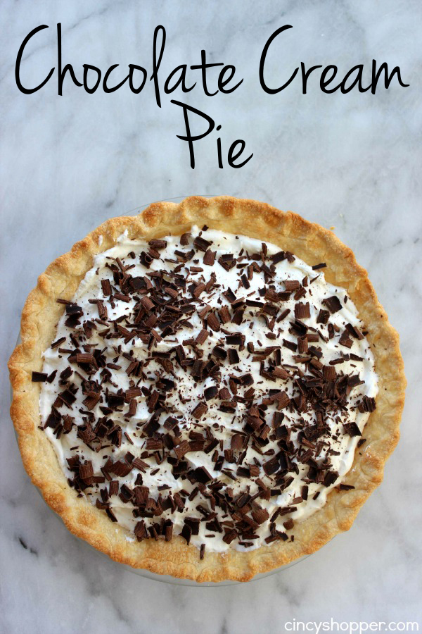 Chocolate Cream Pie- Rich and Creamy chocolate pie. Super easy and quick!