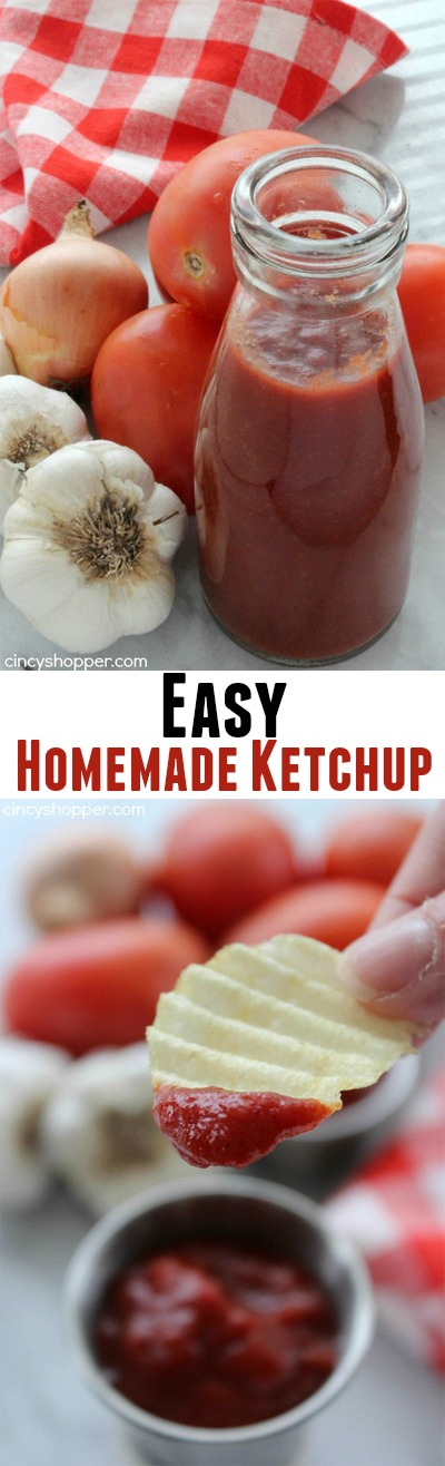 """Easy Homemade Ketchup- Super simple ketchup recipe that uses tomato paste for a base. Perfect for when you are """"fresh out"""" of ketchup."""