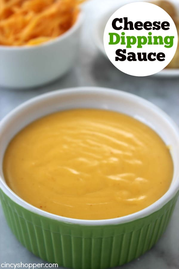 Easy Homemade Cheese Dipping Sauce -perfect for dipping pretzels, nachos, drizzled on veggies like broccoli or cauliflower