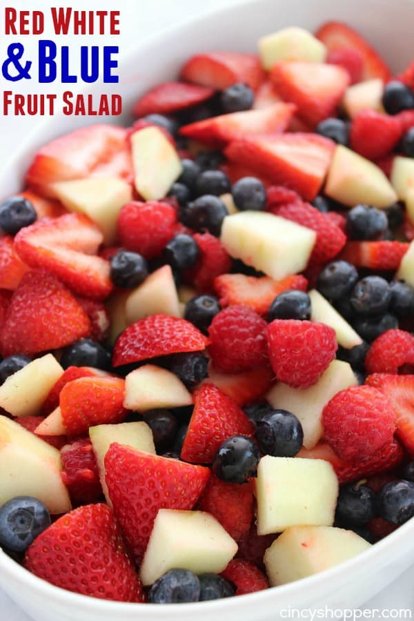Red White and Blue Fruit Salad 1