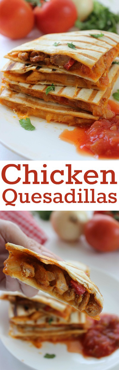 Chicken Quesadillas Meal - Super dinner or appetizer idea. Everything for this meal can be purchase at Aldi for around $10 and feed a larger family.