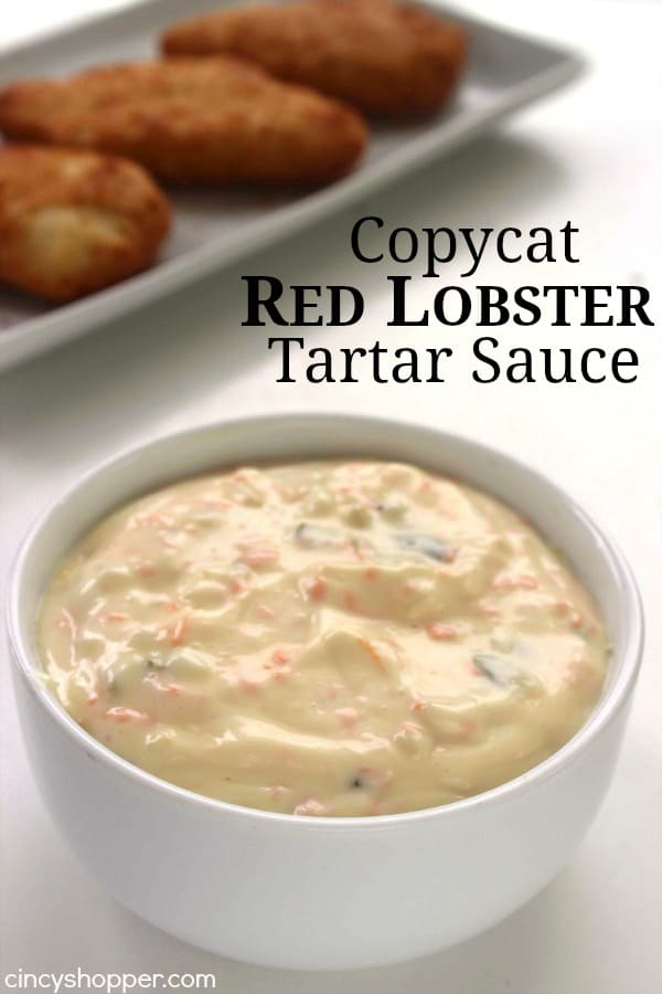 Copycat Red Lobster Tartar Sauce - perfect with your fried fish dishes, shrimp, or any seafood dish that you like to dip. Save $$'s and make this favorite at home.