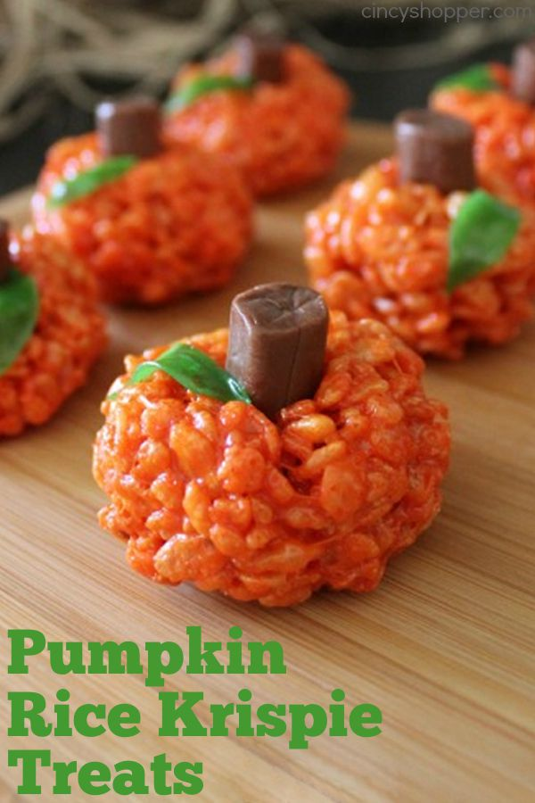 Pumpkin Rice Krispie Treats 1