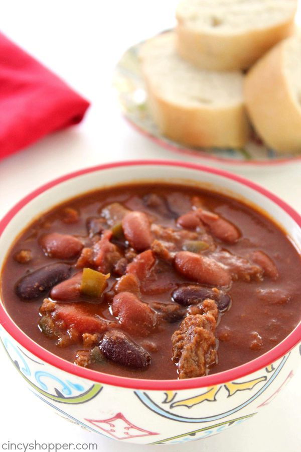 Slow Cooker Chili - perfect Crock-Pot meal idea for fall. You will find a bit of a kick in this chili so it is great for those families that like a bit of heat.