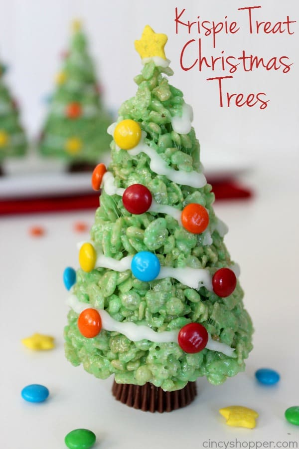 Krispie Treat Christmas Trees 1