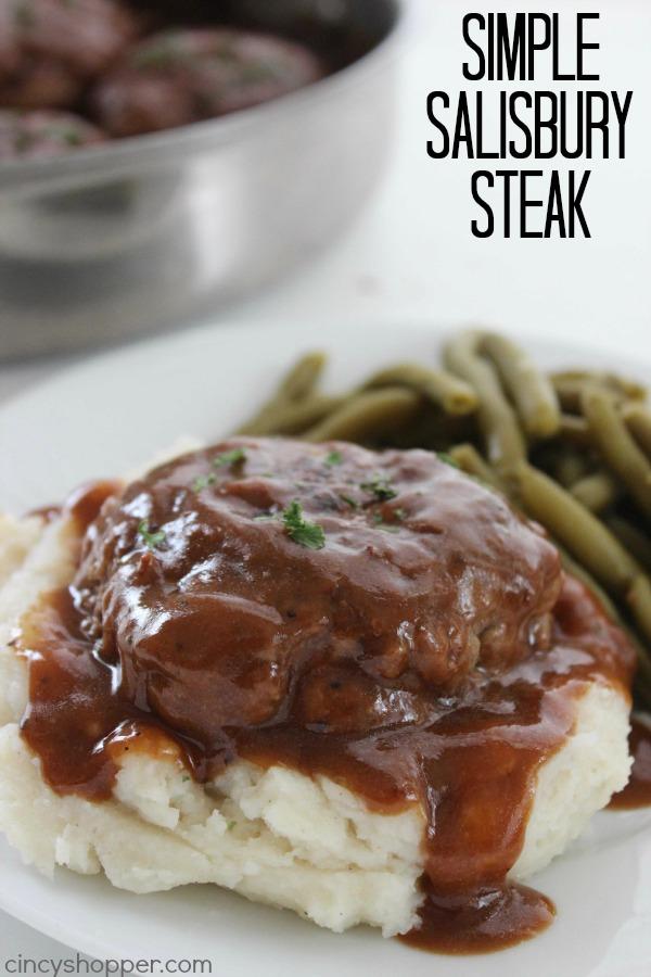 Simple Salisbury Steak text on image