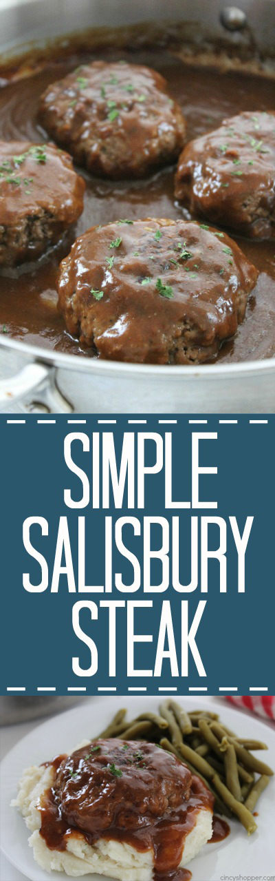 Simple Salisbury Steak long pin collage