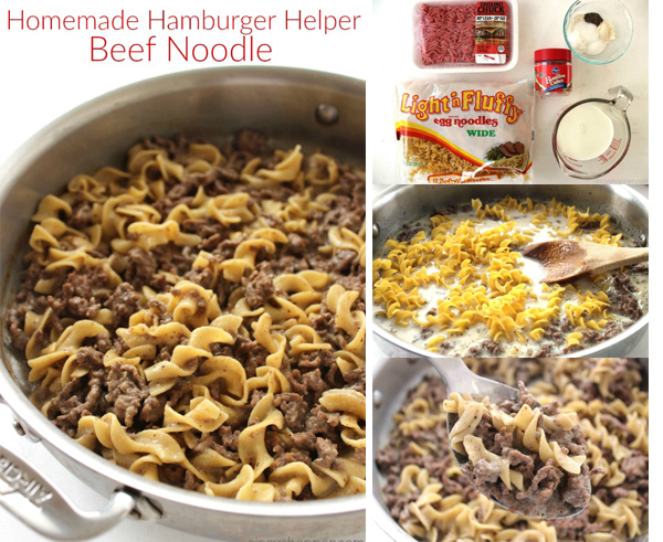 Homemade Hamburger Helper Beef Noodle - With a few simple ingredients and a few minutes time, you can avoid the boxed stuff.