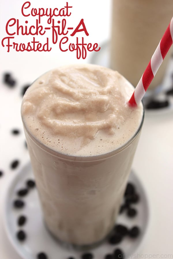 Copycat Chick-fil-A Frosted Coffee - Coffee fans will LOVE it! Perfect refreshment for warm summer months. Simple to make right at home.