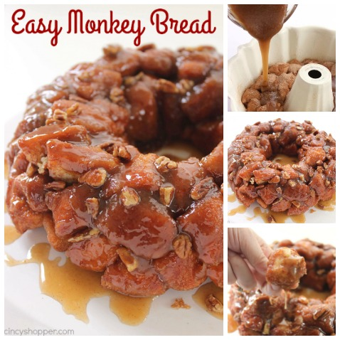 Easy Monkey Bread -Perfect for a quick breakfast or even dessert. You can feed a crowd with this deliciousness