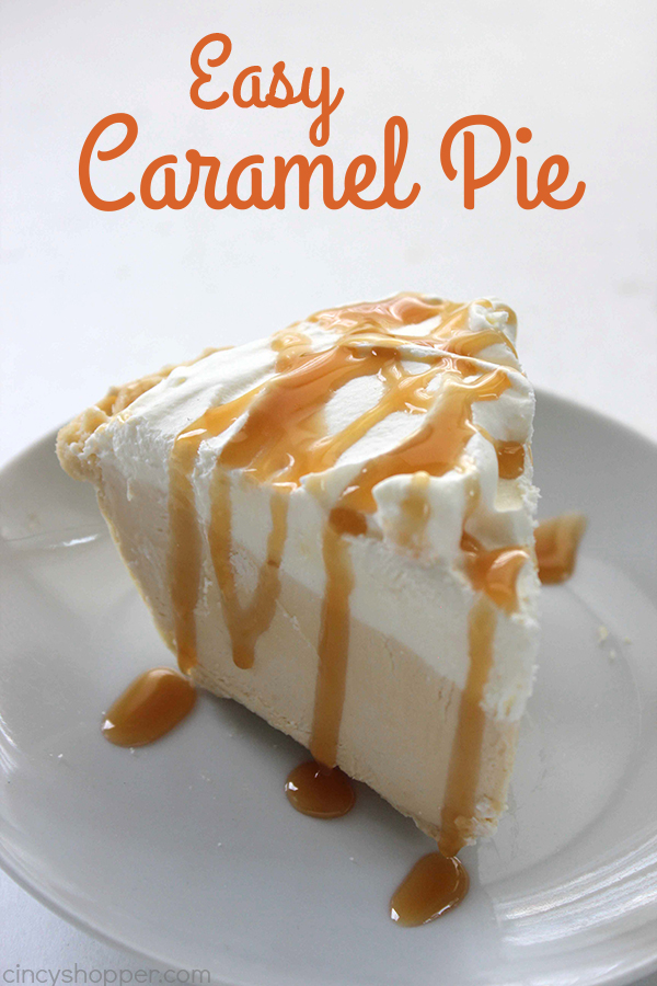 Easy Caramel Pie - Perfect for caramel lovers. Super Simple. Great holiday pie!