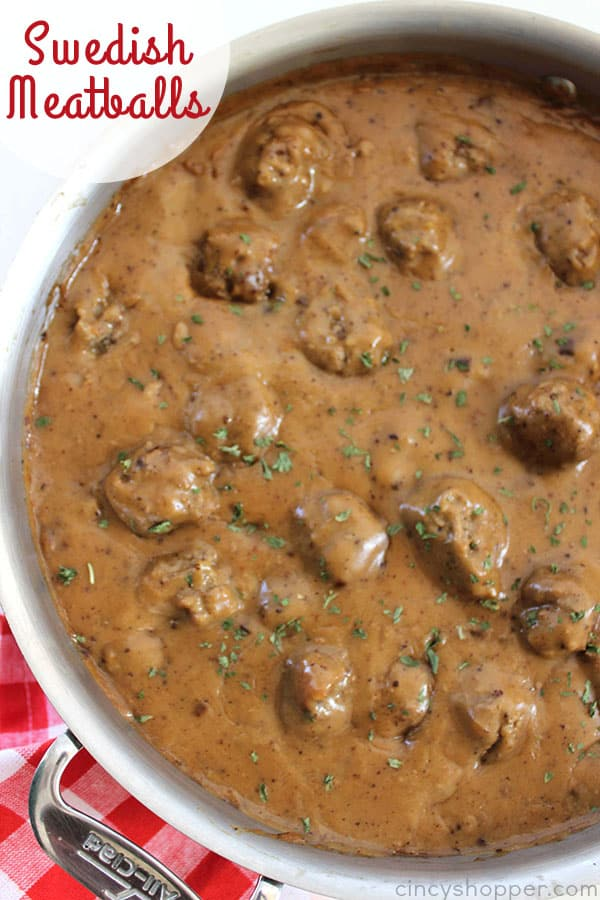Swedish Meatballs - perfect family meal or appetizer idea year round or during the holiday season. Serve them over egg noodles, on top of mashed potatoes, or all by themselves.