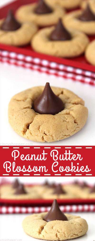 Some call them Peanut Butter Hershey Kissed Cookies but we call them Peanut Butter Blossom Cookies. Call them what you like, they are a perfect year round or Christmas cookie.