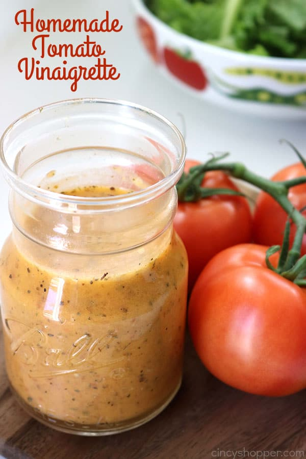 Homemade Tomato Vinaigrette - will make for a perfect dressing for all of your summer salads. Amazing fresh tomato flavor
