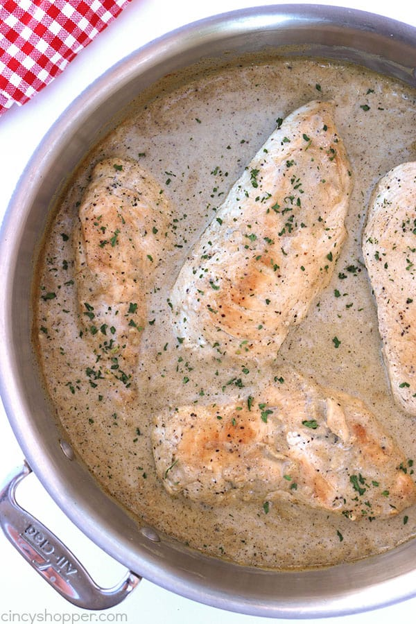 Creamy Chicken Breast - a perfect dinner for your family. The creamy sauce is made with simple ingredients and takes no time at all.