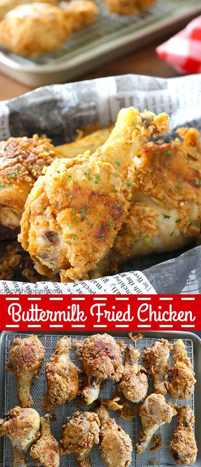 This slightly spicy Buttermilk Fried Chicken Recipe is pan fried creating a crispy and full of flavor piece of chicken. It's definitely finger licking goodness.
