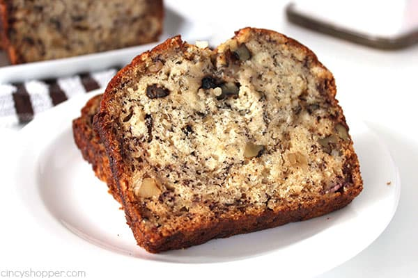 Grab yourself four overripe bananas and a few other items to make this super Easy Banana Bread. It's great for breakfast or even dessert. You will find it moist and delicious!