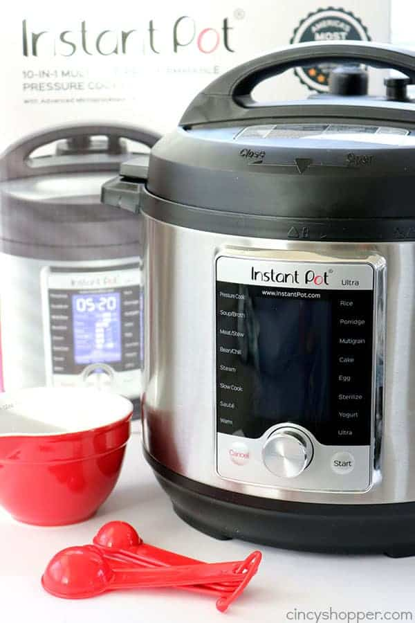 What is an Instant Pot?  The Instant Pot is a SUPER handy small kitchen appliance. It is a pressure cooker, a steamer, a slow cooker, rice cooker, warming pot, yogurt maker, and so much more!