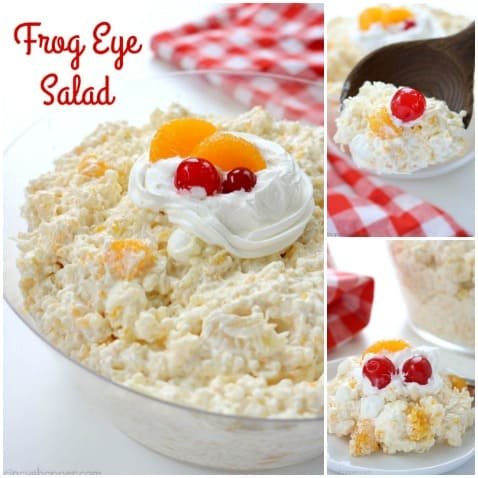 Frog Eye Salad - sweet fruity pasta salad is perfect for a summer BBQ side dish! #SummerSalad