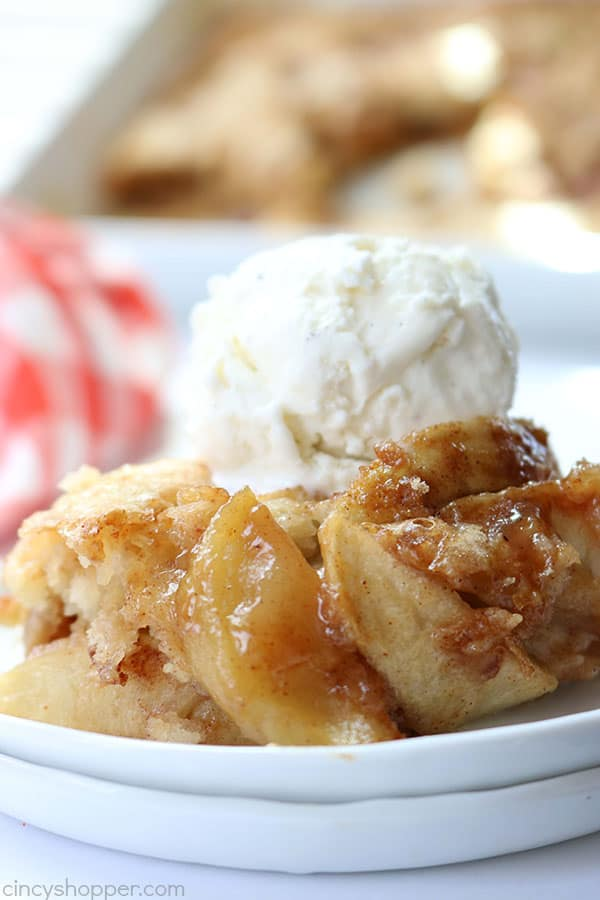 This homemade Apple Cobbler is going to become one of your favorite fall desserts. Just a few ingredients to make this warm and comforting dessert.
