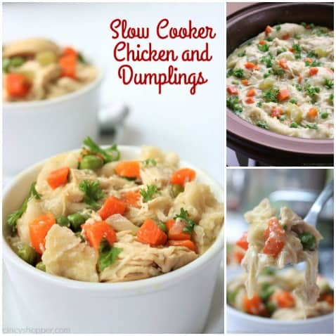 Slow Cooker Chicken and Dumplings - so easy to make right in your Crock Pot. You will find the recipe super easy to make with simple ingredients. Have this classic homemade comfort dish cooking in no time at all!