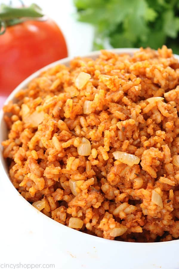 Easy Spanish Rice recipe or Mexican rice if you like to call it that is so super simple to make. It's a perfect side dish with your tacos. burritos, casseroles, and more.