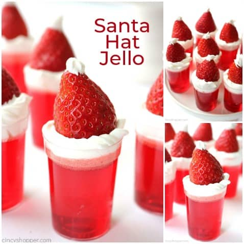 Santa Hat Jello Cups are so easy and are perfect for serving a crowd.