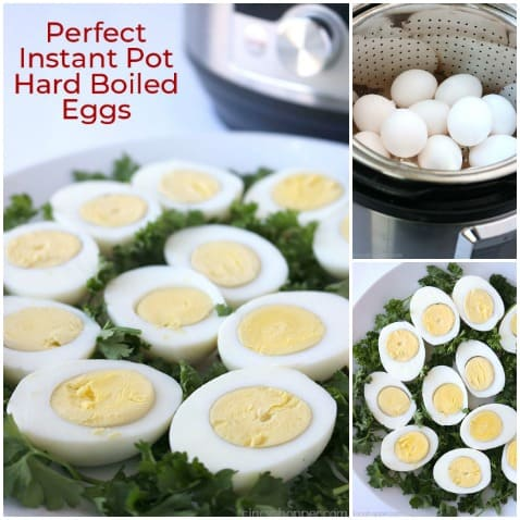 Perfect Instant Pot Hard Boiled Eggs- Easy to cook, easy to peel, and ready in no time at all. Great for deviled eggs and great for salads too.