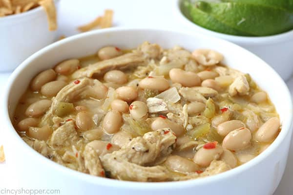 Bowl of Easy White Chicken Chili