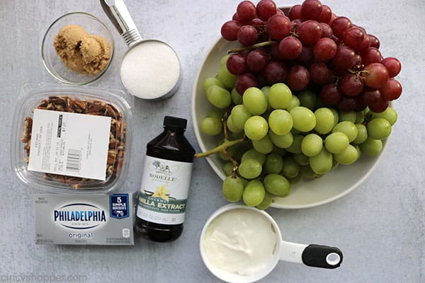 Ingredients to make Grape Salad