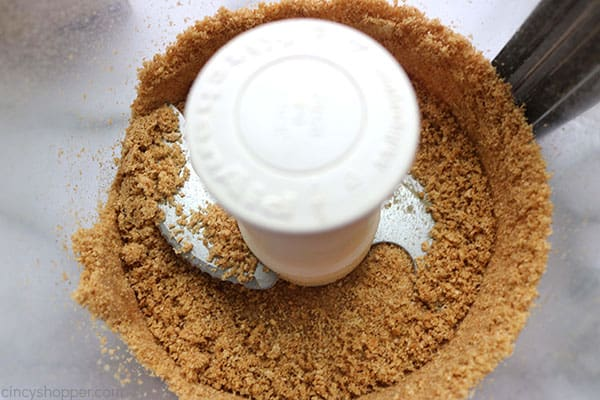 Crushed graham crackers for crust of easy lemon pie.