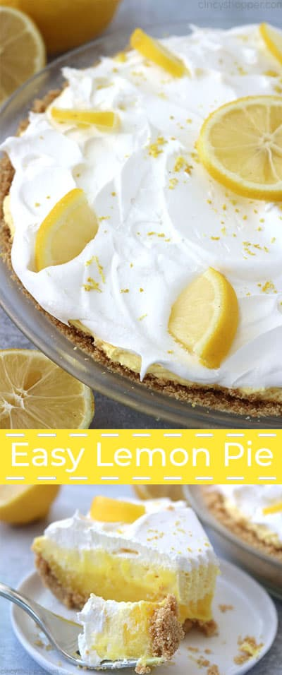 Collage of lemon pie.