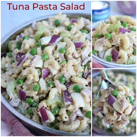Short collage for Tuna Pasta Salad.