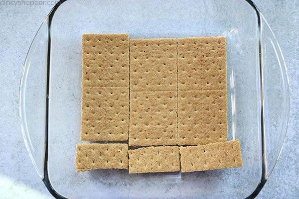 Graham Cracker layer for making icebox cake.