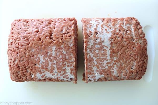 Frozen ground beef