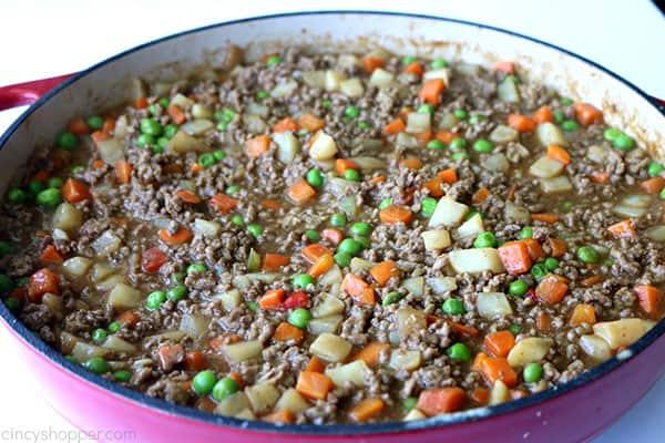 Cooked ground beef mixture.