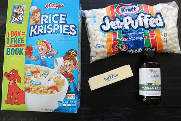 Ingredients to make Krispie Treats